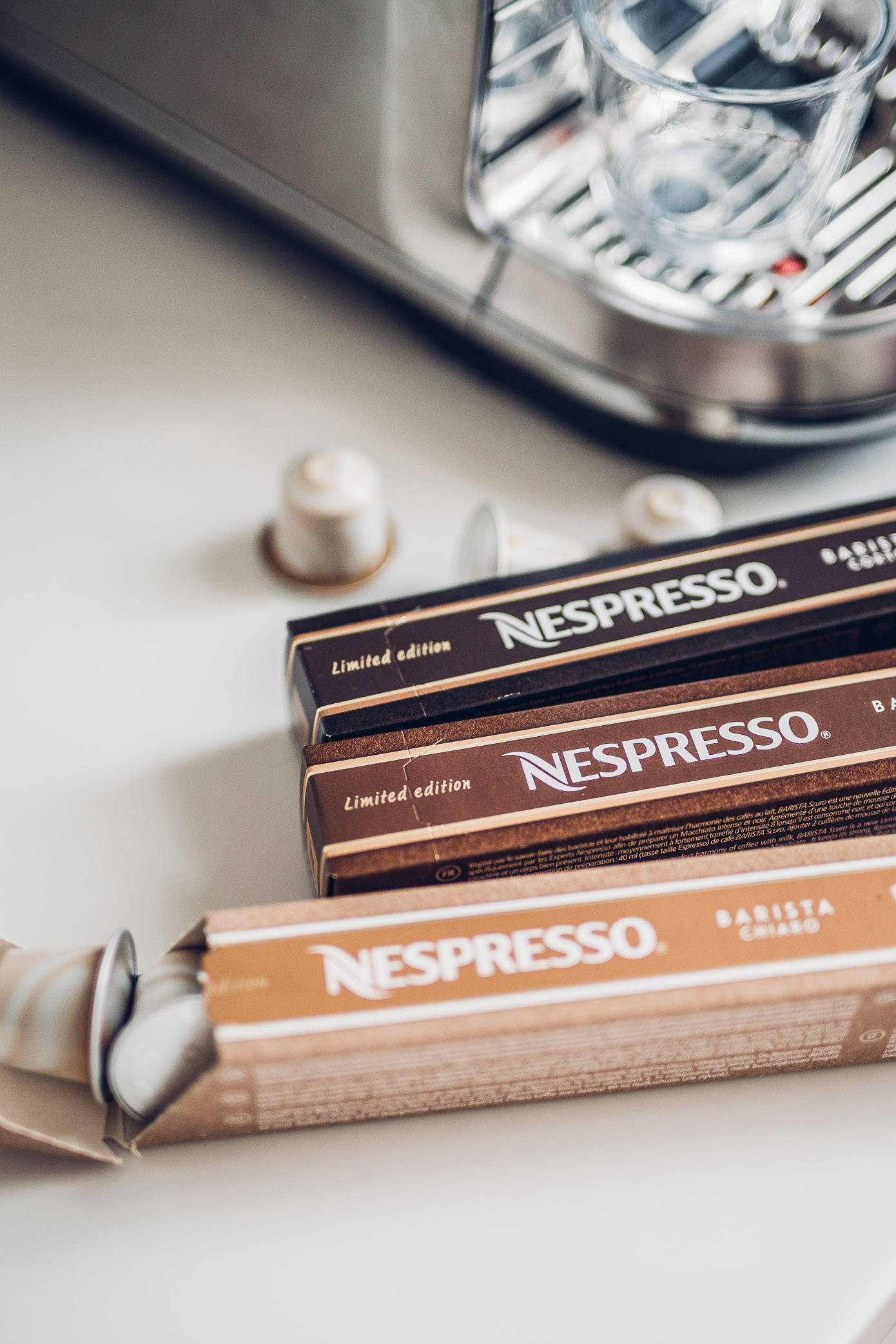 Nespresso, Creatista, barista, design, the art of coffee, Helmut Lang, Wendy & Jim